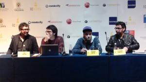Luis Horta, Pablo Inostroza, Ramón Reyes y Claudio Pereira (de izq. a derecha)