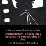 Afiche IV Convención de Cineclubes de Chile, 2017.